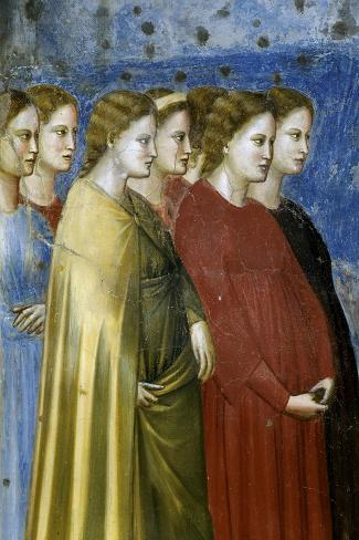 The Virgin's Wedding Procession, Detail-Giotto di Bondone-Stretched Canvas Print