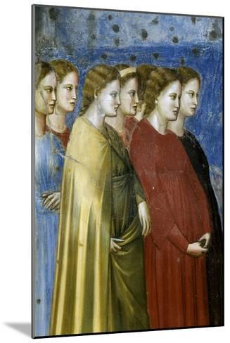 The Virgin's Wedding Procession, Detail-Giotto di Bondone-Mounted Giclee Print