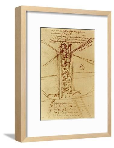 Drawing of a Flying Machine-Leonardo da Vinci-Framed Art Print