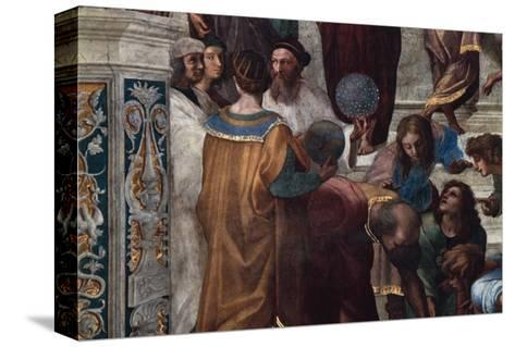 The School of Athens, Detail-Raphael-Stretched Canvas Print