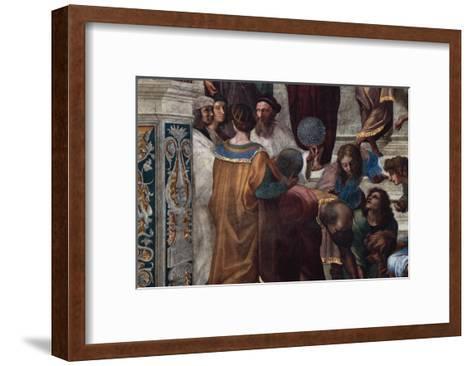 The School of Athens, Detail-Raphael-Framed Art Print