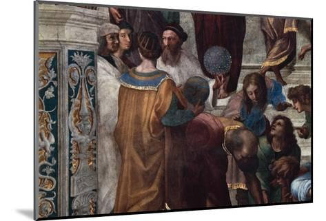 The School of Athens, Detail-Raphael-Mounted Giclee Print