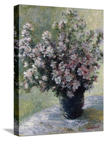 Vase of Flowers-Claude Monet-Stretched Canvas Print