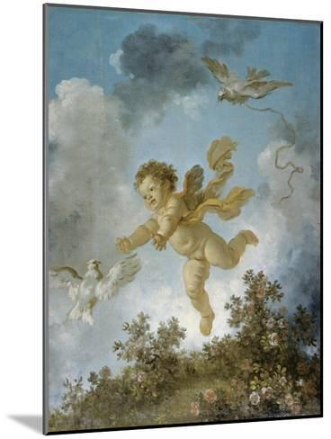 Love Reaching for a Dove-Jean-Honor? Fragonard-Mounted Giclee Print