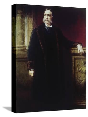 Chester a Arthur, (1830-1886)-Daniel Huntington-Stretched Canvas Print