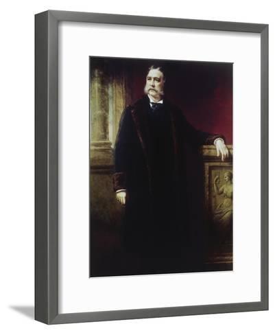 Chester a Arthur, (1830-1886)-Daniel Huntington-Framed Art Print