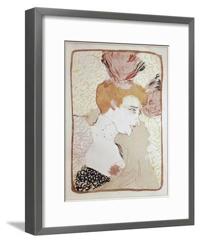 Mademoiselle Marcelle Lender-Henri de Toulouse-Lautrec-Framed Art Print