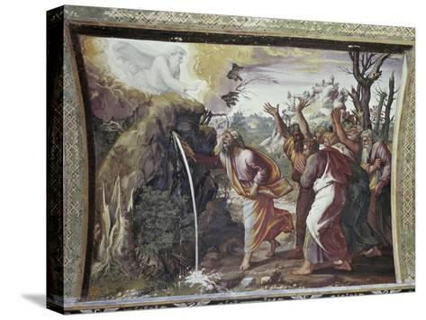 Moses Strikes the Rock-Raphael-Stretched Canvas Print