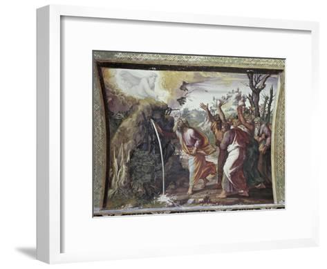 Moses Strikes the Rock-Raphael-Framed Art Print