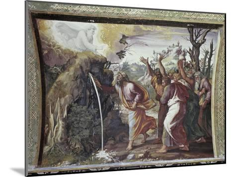 Moses Strikes the Rock-Raphael-Mounted Giclee Print