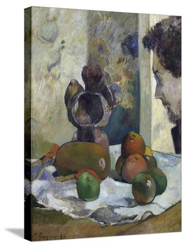Still Life with Profile of Charles Laval-Paul Gauguin-Stretched Canvas Print