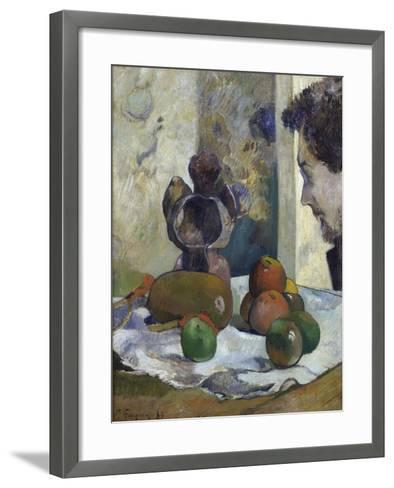 Still Life with Profile of Charles Laval-Paul Gauguin-Framed Art Print