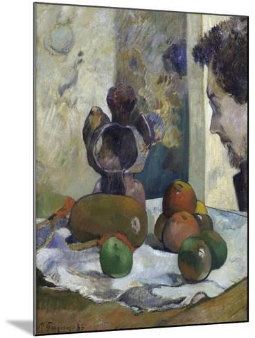 Still Life with Profile of Charles Laval-Paul Gauguin-Mounted Giclee Print