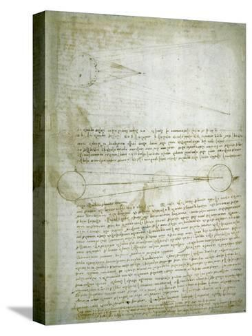 Codex Leicester: The Changing Earth-Leonardo da Vinci-Stretched Canvas Print