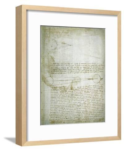 Codex Leicester: The Changing Earth-Leonardo da Vinci-Framed Art Print