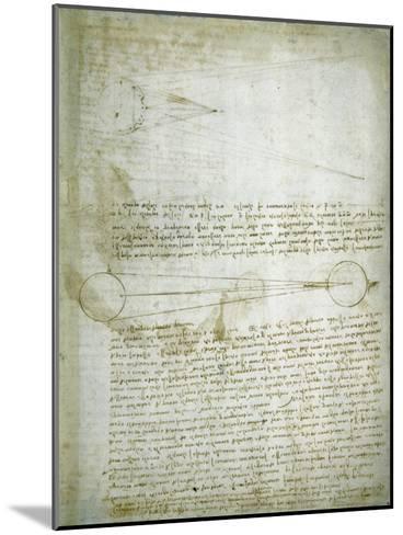 Codex Leicester: The Changing Earth-Leonardo da Vinci-Mounted Giclee Print