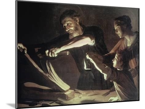 Holy Family in the Carpentery Shop-Gerrit van Honthorst-Mounted Giclee Print