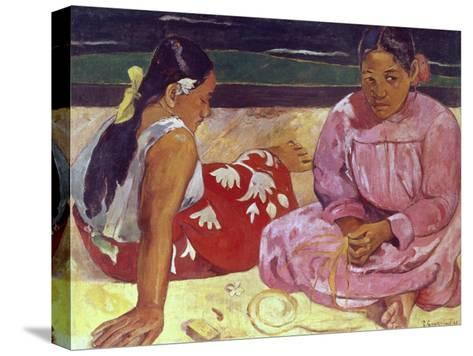 Tahitian Women (On the Beach)-Paul Gauguin-Stretched Canvas Print