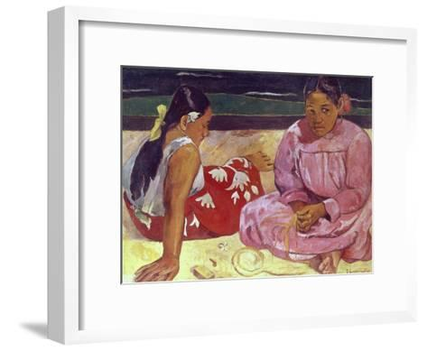 Tahitian Women (On the Beach)-Paul Gauguin-Framed Art Print