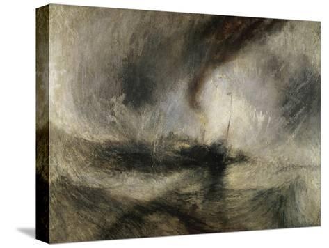 Snow Storm: Steam-Boat Off a Harbour's Mouth-J^ M^ W^ Turner-Stretched Canvas Print