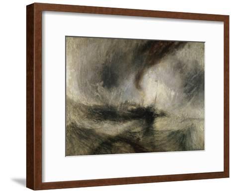 Snow Storm: Steam-Boat Off a Harbour's Mouth-J^ M^ W^ Turner-Framed Art Print