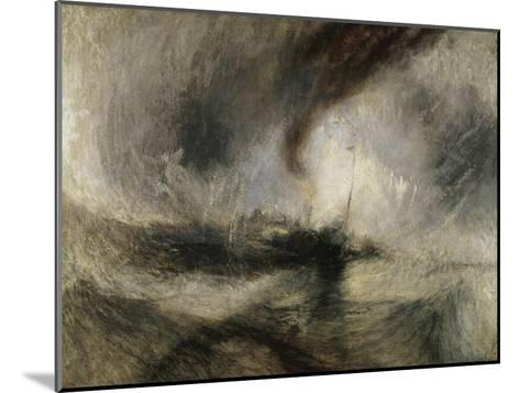 Snow Storm: Steam-Boat Off a Harbour's Mouth-J^ M^ W^ Turner-Mounted Giclee Print