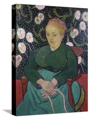 Woman Rocking a Cradle-Vincent van Gogh-Stretched Canvas Print