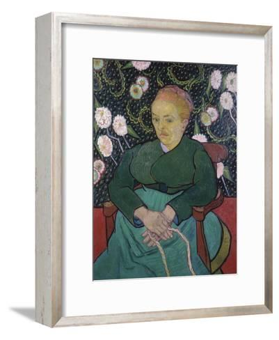Woman Rocking a Cradle-Vincent van Gogh-Framed Art Print