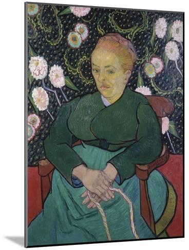 Woman Rocking a Cradle-Vincent van Gogh-Mounted Giclee Print