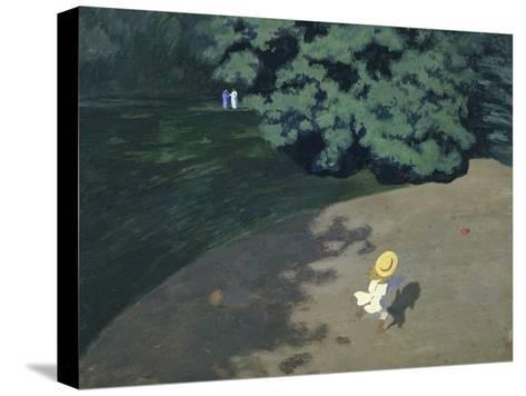 Child Playing with the Ball (Corner of the Park-F?lix Vallotton-Stretched Canvas Print