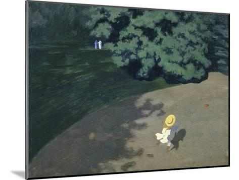 Child Playing with the Ball (Corner of the Park-F?lix Vallotton-Mounted Giclee Print