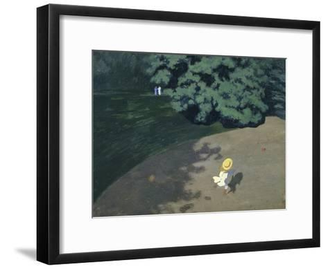 Child Playing with the Ball (Corner of the Park-F?lix Vallotton-Framed Art Print