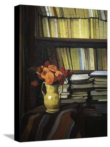 The Library-F?lix Vallotton-Stretched Canvas Print