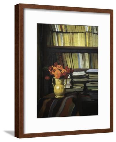 The Library-F?lix Vallotton-Framed Art Print