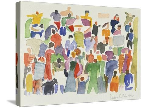 Crowd No.16-Diana Ong-Stretched Canvas Print
