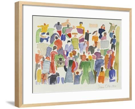 Crowd No.16-Diana Ong-Framed Art Print