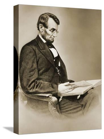 Abraham Lincoln--Stretched Canvas Print