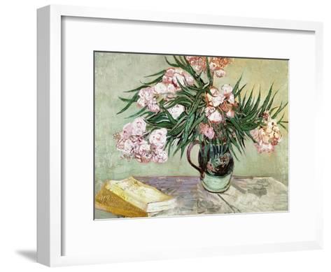 Vase with Oleanders and Books, c.1888-Vincent van Gogh-Framed Art Print
