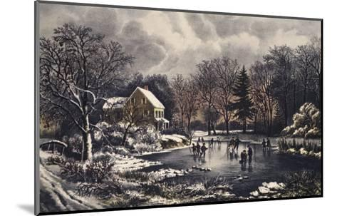 Early Winter-Currier & Ives-Mounted Giclee Print