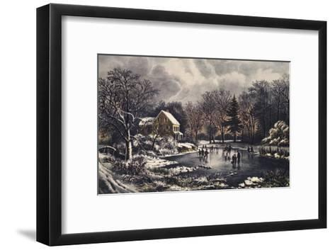 Early Winter-Currier & Ives-Framed Art Print