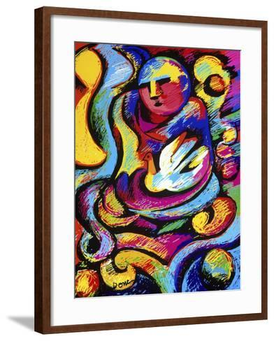 Buddha and Dove-Diana Ong-Framed Art Print