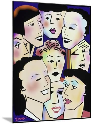 Womans' Group-Diana Ong-Mounted Giclee Print