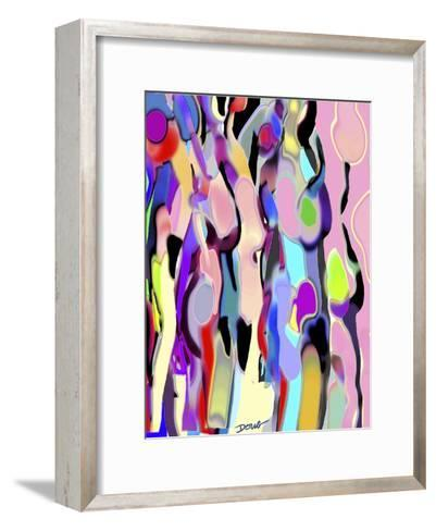 Abstract Female Forms-Diana Ong-Framed Art Print