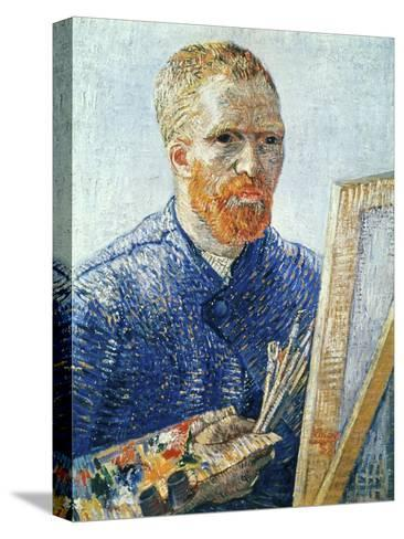 Self-Portrait in front of the Easel, c.1888-Vincent van Gogh-Stretched Canvas Print