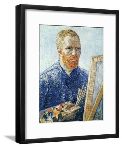 Self-Portrait in front of the Easel, c.1888-Vincent van Gogh-Framed Art Print