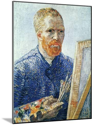 Self-Portrait in front of the Easel, c.1888-Vincent van Gogh-Mounted Giclee Print