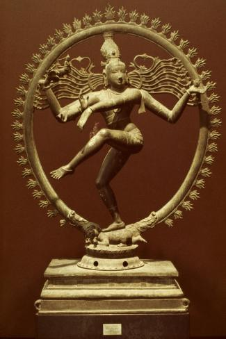 Shiva As Nataraja--Stretched Canvas Print