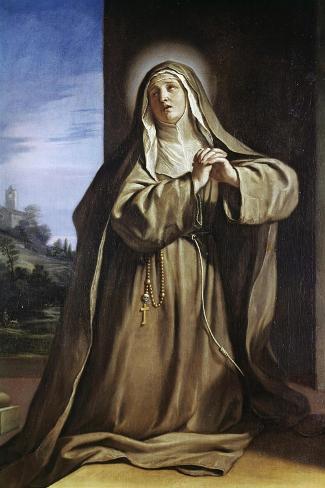 Saint Margarita Da Cortona-Guercino (Giovanni Francesco Barbieri)-Stretched Canvas Print