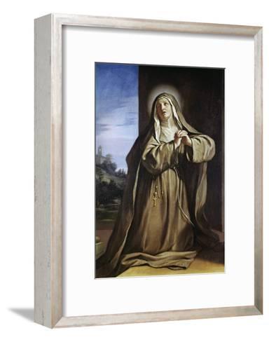 Saint Margarita Da Cortona-Guercino (Giovanni Francesco Barbieri)-Framed Art Print