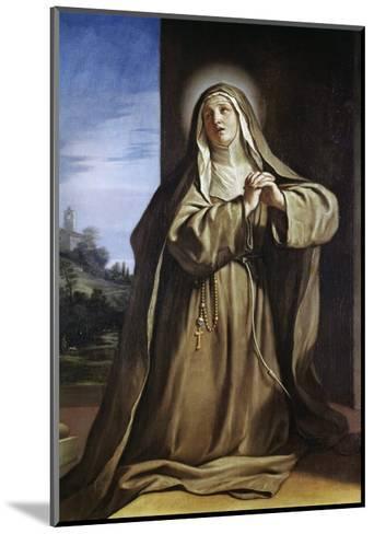 Saint Margarita Da Cortona-Guercino (Giovanni Francesco Barbieri)-Mounted Giclee Print